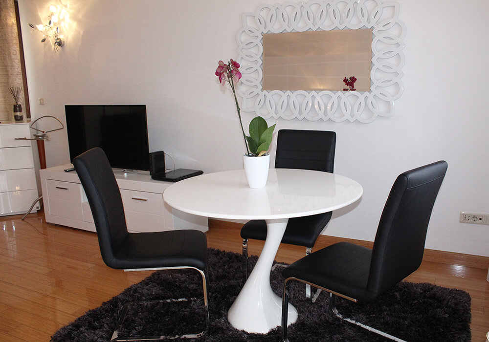 Dining table in the room